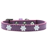 Mirage Pet Products Snowflake Widget Dog Collar Lavender Size 12