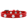 Mirage Pet Products Snowflake Widget Dog Collar Red Size 10