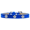 Mirage Pet Products Silver Flower Widget Dog Collar Blue Ice Cream Size 16