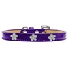 Mirage Pet Products Silver Flower Widget Dog Collar Purple Ice Cream Size 14