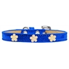 Mirage Pet Products Gold Flower Widget Dog Collar Blue Ice Cream Size 14