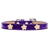Mirage Pet Products Gold Flower Widget Dog Collar Purple Ice Cream Size 14