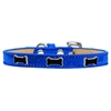 Mirage Pet Products Black Bone Widget Dog Collar Blue Ice Cream Size 10