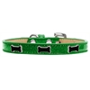 Mirage Pet Products Black Bone Widget Dog Collar Emerald Green Ice Cream Size 16