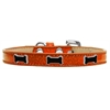 Mirage Pet Products Black Bone Widget Dog Collar Orange Ice Cream Size 16