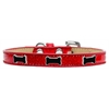 Mirage Pet Products Black Bone Widget Dog Collar Red Ice Cream Size 14