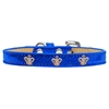 Mirage Pet Products Gold Crown Widget Dog Collar Blue Ice Cream Size 18