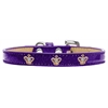 Mirage Pet Products Gold Crown Widget Dog Collar Purple Ice Cream Size 16