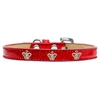 Mirage Pet Products Gold Crown Widget Dog Collar Red Ice Cream Size 14