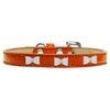 Mirage Pet Products White Bow Widget Dog Collar Orange Ice Cream Size 16