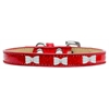 Mirage Pet Products White Bow Widget Dog Collar Red Ice Cream Size 14