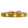 Mirage Pet Products Snowflake Widget Dog Collar Gold Ice Cream Size 14