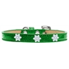 Mirage Pet Products Snowflake Widget Dog Collar Emerald Green Ice Cream Size 10
