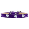 Mirage Pet Products Snowflake Widget Dog Collar Purple Ice Cream Size 16