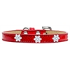 Mirage Pet Products Snowflake Widget Dog Collar Red Ice Cream Size 20