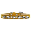Mirage Pet Products Crystal and Silver Spikes Dog Collar Gold Ice Cream Size 14