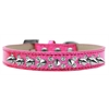 Mirage Pet Products Double Crystal and Silver Spikes Dog Collar Pink Ice Cream Size 14