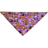 Mirage Pet Products Purple and Pumpkins Tie-On Pet Bandana Size Large