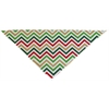 Mirage Pet Products Christmas Chevron Tie-On Pet Bandana Size Large