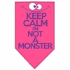 Mirage Pet Products Keep Calm Screen Print Bandana Bright Pink Small