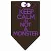 Mirage Pet Products Keep Calm Screen Print Bandana Brown Large