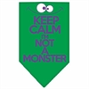 Mirage Pet Products Keep Calm Screen Print Bandana Emerald Green Large