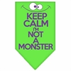 Mirage Pet Products Keep Calm Screen Print Bandana Lime Green Large
