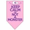 Mirage Pet Products Keep Calm Screen Print Bandana Light Pink Large