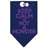 Mirage Pet Products Keep Calm Screen Print Bandana Navy Blue Small