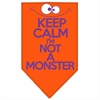 Mirage Pet Products Keep Calm Screen Print Bandana Orange Large