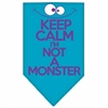Mirage Pet Products Keep Calm Screen Print Bandana Turquoise Small