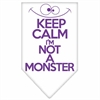 Mirage Pet Products Keep Calm Screen Print Bandana White Small