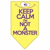 Mirage Pet Products Keep Calm Screen Print Bandana Yellow Large