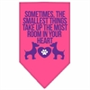Mirage Pet Products Smallest Things Screen Print Bandana Bright Pink Small