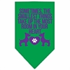 Mirage Pet Products Smallest Things Screen Print Bandana Emerald Green Large