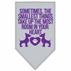 Mirage Pet Products Smallest Things Screen Print Bandana Grey Small