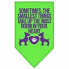 Mirage Pet Products Smallest Things Screen Print Bandana Lime Green Small