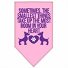 Mirage Pet Products Smallest Things Screen Print Bandana Light Pink Large