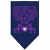Mirage Pet Products Smallest Things Screen Print Bandana Navy Blue large