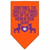 Mirage Pet Products Smallest Things Screen Print Bandana Orange Large