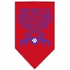 Mirage Pet Products Smallest Things Screen Print Bandana Red Large
