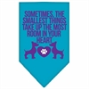 Mirage Pet Products Smallest Things Screen Print Bandana Turquoise Large