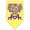 Mirage Pet Products Smallest Things Screen Print Bandana Yellow Small