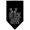Mirage Pet Products Buck Off Screen Print Bandana Black Large