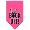 Mirage Pet Products Buck Off Screen Print Bandana Bright Pink Small