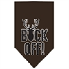 Mirage Pet Products Buck Off Screen Print Bandana Brown Large