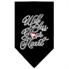Mirage Pet Products Well Bless Your Heart Screen Print Bandana Black Small