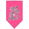 Mirage Pet Products Well Bless Your Heart Screen Print Bandana Bright Pink Large