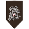 Mirage Pet Products Well Bless Your Heart Screen Print Bandana Brown Large