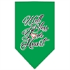 Mirage Pet Products Well Bless Your Heart Screen Print Bandana Emerald Green Large